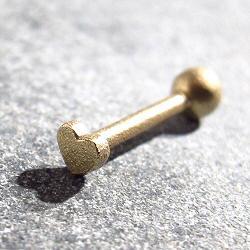 Feidt piercing mini coeur or jaune 9k