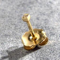 Feidt stud solo diamant 0,9mm or jaune 9k
