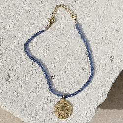 Hermina bracelet Eye perles bleu