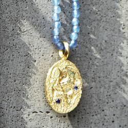 Hermina collier Sealstone runnner bleu