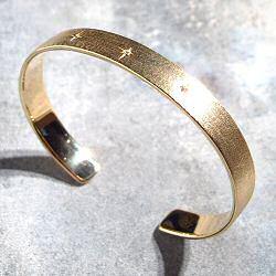 Louise Hendricks bracelet Elisa plaqué or / zircon blanc