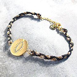 Louise Hendricks bracelet Happy blanc plaqué or