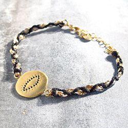 Louise Hendricks bracelet Happy noir plaqué or