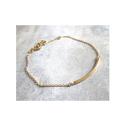 Bracelet tube doré Louise Hendricks bijoux plaqué or