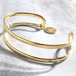 Louise Hendricks Bracelet bande dore Xena