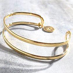Louise Hendricks Bracelet bande doré Xena
