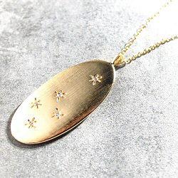 Louise Hendricks collier étoiles Celeste zircon blanc plaqué or
