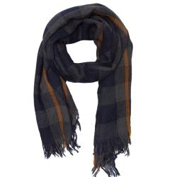 Lovat & Green foulard laine marine Baqueira