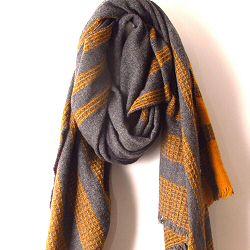 Lovat & Green foulard Blanket ocre gris