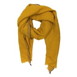 Lovat & Green foulard laine jaune Divino