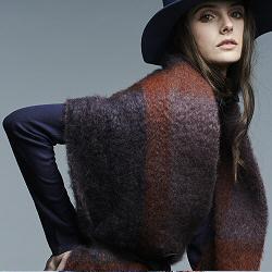 Lovat & Green foulard laine Fleecy navy