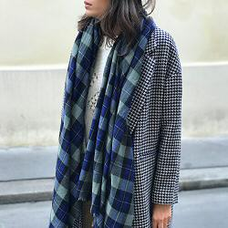 Lovat & Green foulard laine Highland blue