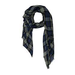 Lovat & Green foulard homme laine Highland blue