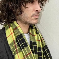 Lovat & Green foulard homme laine Highland yellow