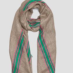 Lovat & Green foulard 100% lin beige Lima