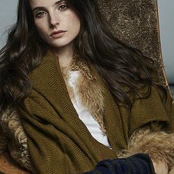 Lovat & Green foulard laine Tiss� gold