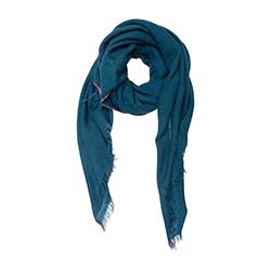 Lovat & Green foulard laine Tiss� petrol