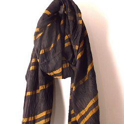 Lovat & Green foulard Vintage noir ocre
