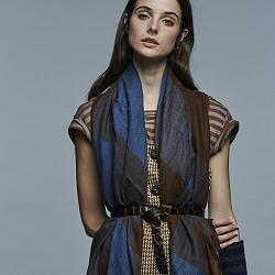 Lovat & Green foulard laine Chess black