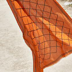 Lovat & Green foulard coton orange Diamonds