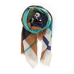 Ma Poesie foulard homme laine graphique ocre Divine