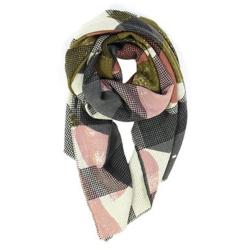 Ma Poesie foulard Organique kaki 100% laine