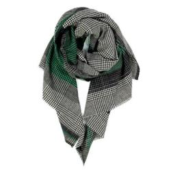 Ma Poesie foulard homme vert 100% laine Reflet