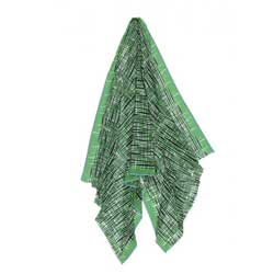 Ma Poesie foulard homme graphique vert Retro
