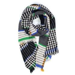 Ma Poesie foulard homme 100% laine Sous-bois