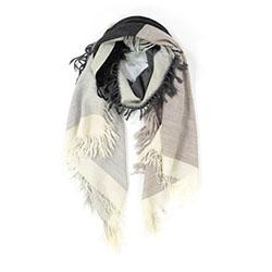 Ma Poesie foulard laine graphique gris Susie
