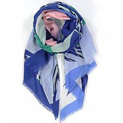 Ma Poesie foulard bleu coton Tropical