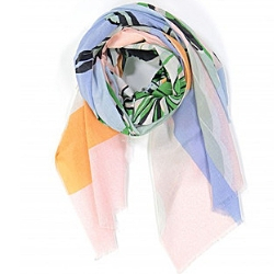 Ma Poesie foulard corail coton Tropical