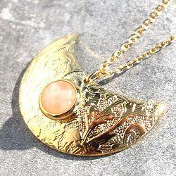 Margi Darika collier Artemis Quartz rose doré
