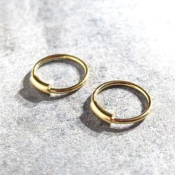 Maria Black boucles (paire) Basic hoops XS gold argent dore