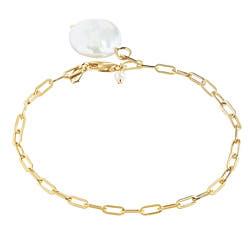 Maria Black bracelet Alessandria perle nacre gold / argent dore
