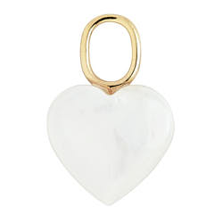 Maria Black charm Mother Heart nacre gold / argent dore