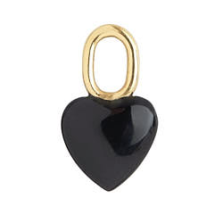 Maria Black charm Onyx Heart gold / argent dore