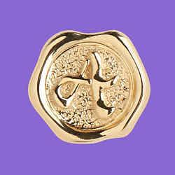 Maria Black coin signet A gold argent dore