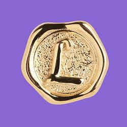 Maria Black coin signet L gold argent dore
