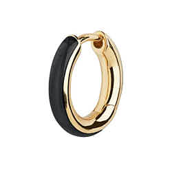Maria Black huggie Kate ebony black gold argent dore
