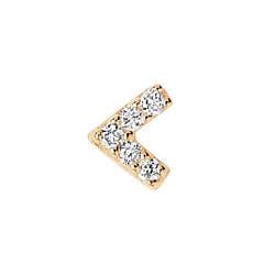 Maria Black stud Velvet diamond or jaune 14k