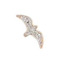 Maria Black stud oiseaux Volant diamond or jaune 14k
