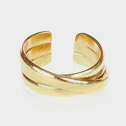 Medecine Douce bague Upsilon Ring maxi dore