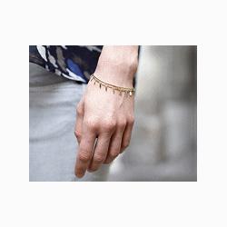 Medecine Douce Bracelet jonc Garrigue doré