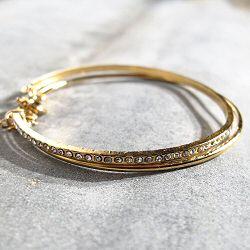 Medecine Douce bracelet Quantum Strass Swarovski Laiton doré