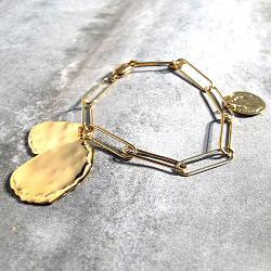 Medecine Douce bracelet Tancrede chaine forcat dore