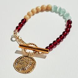 Medecine Douce bracelet Wonderwall bordeaux dore