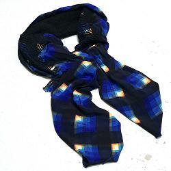 Mii foulard en soie brod�e Sunrise brod� tiss� main
