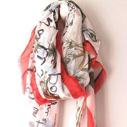 Mii foulard Herbier rouge