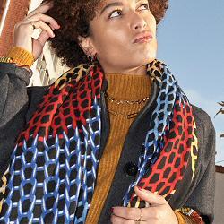 Mii foulard en soie Knitting tiss� main